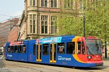Sheffield Supertram car 101 Cathedral stop Tram Photo Ref P710