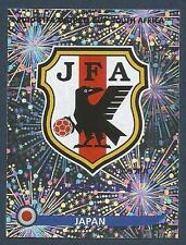 PANINI-SOUTH AFRICA 2010 WORLD CUP- #373-JAPAN TEAM BADGE-SILVER FOIL