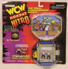 WCW Nitro Tag Team Championship Belt Buckle Ring Playset Hall, Nash, Nasty Boys