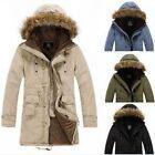 Men's Korean Cardigan Coats Winter Warm Tops Hoodie Chic Trends Cotton Jacket