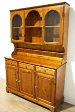 Solid Pine Ducal Dresser Sideboard, Farmhouse Display Cabinet Welsh Shabby Chic