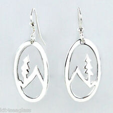 Far Fetched MOUNTAIN Tree EARRINGS Silver Plated Dangle Mima & Oly - Gift Boxed