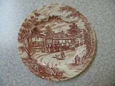 J Broadhurst Ironstone Dinner  Plate Churchill Swan Inn