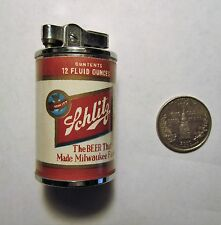 SCHLITZ 1950'S flat top can shaped MINI-CIGARETTE LIGHTER