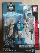 Transformers: Titans Return - Xort & Highbrow - Deluxe Class Figure NEW