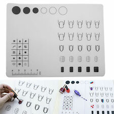 40x30cm Nail Art Soft Silicone WorkSpace Stamping Transfer Plate Mat Sheet Table