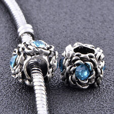 5pcs european beads for chain bracelets charms lot blue making jewelry
