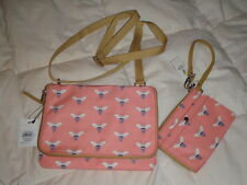 Fossil Key Per Mini Flap Crossbody Bag Bee Pink Multi and Wristlet