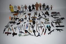 Vintage Lot of Action Figures Fireman, GI Joe, Star Wars, Weapons, Accessories