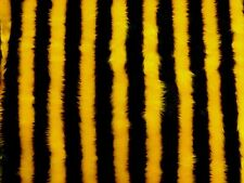 """Bumble Bee Animal Print Patterned Fur Fabric 60""""wide SOLD BY THE METRE"""