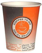 1000 Coffee to go Becher, Kaffeebecher aus Hartpapier black/orange 0,2l