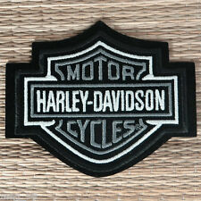 Harley Davidson Classic Silver Logo Sew-on Patch (Small) - Made in USA