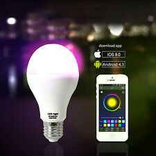 9W iOS & Android Bluetooth Remote control Color Changing Magic LED Smart light