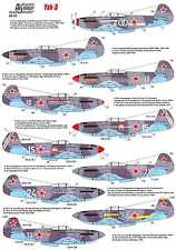 Authentic Decals 1/48 YAKOVLEV YAK-3 Russian WWII Fighter