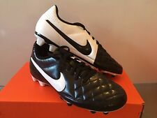 Nike Outdoor Soccer Cleats Tiempo Rio II Black/White Mens Size 12