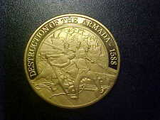 Destruction Of Armada Bronze Proof Commemorative! Free Shipping! Cc239Sxx1