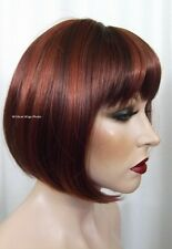 Fab Denise Wig .. Hot Color Mix  .. 33/130 Auburn/Fox Red *