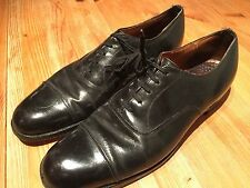 Mens Vintage Bespoke Black Oxford Dress Evening  Shoes  Size 8b