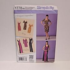 Simplicity Sewing Pattern 1778 Plus Size 14-22 Short & Maxi Skirt Day Night