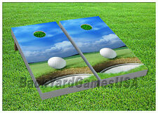 VINYL WRAPS CORNHOLE BEANBAG Board DECALS Hole in One Golf Fans Set 896