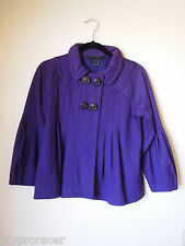 MARC BY MARC JACOBS Purple Cropped Pleated Babydoll Jacket Size S
