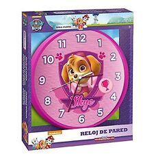 Nickelodeon Paw Patrol Skye Girls Wall Bedroom Clock