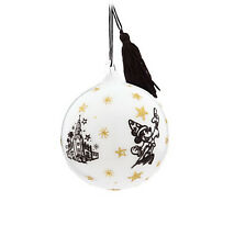 Disney Parks Sorcerer Mickey Mouse Glass Ball Holiday Christmas Ornament Gift !