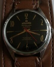"VINTAGE ""ATLANTIC""-WORLDMASTER- 21J-SWISS WRIST WATCH MEN,S"