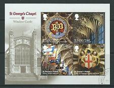 GREAT BRITAIN 2017 WINDSOR CASTLE MINIATURE SHEET WITHOUT BARCODE FINE USED