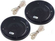 Car Radio Stereo Pair Of speakers 2 way 100mm 10cm 4 Inch 60w Covers+ Wiring