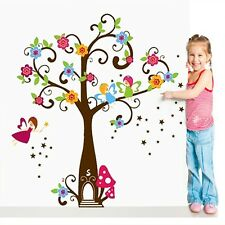 Large Tree Flowers Fairy Tales For Baby Girls Wall Stickers