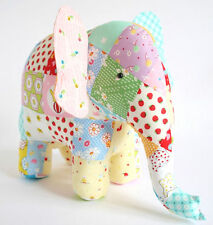 TRUNK SHOW - Sewing Craft PATTERN - Soft Toy Felt Elephant Rag Doll Bear