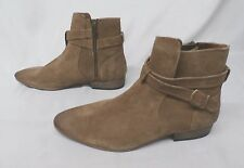 Topman Women's Leather Buckle Ankle Boots Tan GG8 Size UK:7 US:8 $110