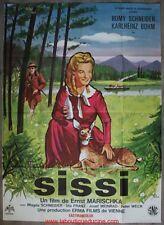 SISSI Affiche Cinéma Movie Poster 160x120 ORIGINALE ROMY SCHNEIDER
