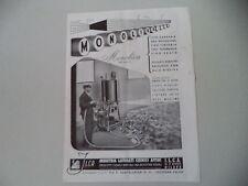 advertising Pubblicità 1947 MONOLIVA ILCA INDUSTRIA PRODOTTI CHIMICI - MILANO