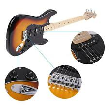 "ammoon 38"" Electric Guitar Maple Neck 22 Frets with Pickguard NEW Sunburst N1V6"