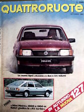 Quattroruote 312 1981 Test Mini Metro 1000 / Renault R5 Turbo / 127 [SC.32]