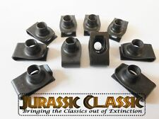 1946-80 Ford 10pk 5/16-18 Extruded Fender Clips U-Nuts Hood Body Panel Console