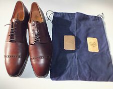 Crockett & Jones 12 12E brown brogue Oxford NEW shoes Avon with bags