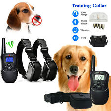100LV 300Meter Level LCD Pet Dog Training Collar Electric Shock Vibration Remote