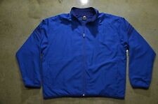 Adidas Men's XL Blue Polyester Sports Retro Vintage Track Jacket Good Condition!