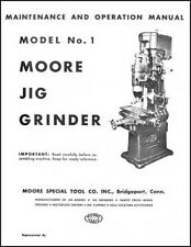 Moore No. 1 Jig Grinder Parts and Operations Manual