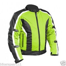 NEW ADVENTURE TECH MESH MOTORCYCLE JACKET HIVIZ FLORO CE ARMOUR ZIP/O LINER 6XL