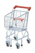 Melissa & Doug Toys Kids Shopping CART, Folding Seat Metal Toy Shopping CART