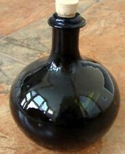 17th Century Handblown Onion Bottle Pirate Rum Bottle Replica