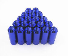 Forged Aluminum Wheel Lug Nut (20) M14 X 1.5mm x 60mm BLUE 21 mm HEX