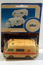 DTE CARDED W GERMANY SIKU 1623 WHITE VW RETTUNGSWAGEN AMBULANCE NIOP