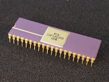 Rare Gold-Purple Ceramic Vintage RCA CDP1802CD Microprocessor CPU COSMAC Xlnt!