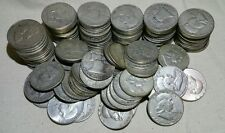 Lot of 50 Silver Franklin Half Dollars (Random Dates 1948-1963)-Free Shipping!