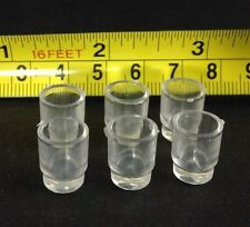 "Dollhouse Miniature 6pcs Dinning/Kitchen/Beer/Drinks 1/2""Glasses (Plastic)S1:12"